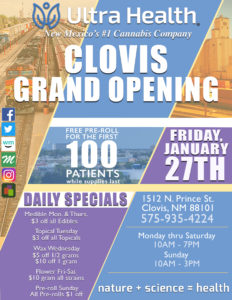 Ultra Health opens its seventh medical cannabis dispensary location in Clovis on January 27, 2017.